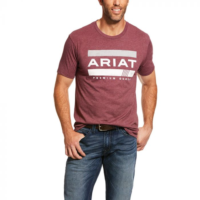 Ariat Mens Bar Stripe Tee