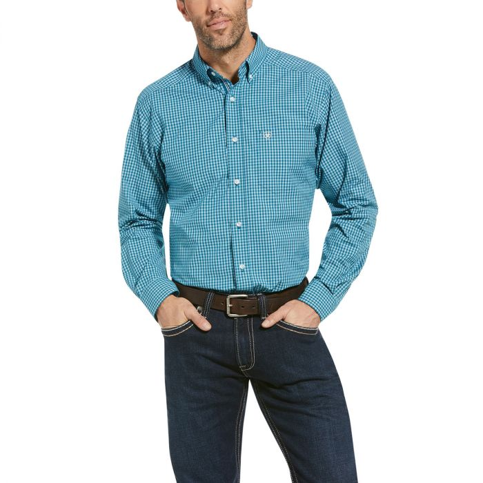 Ariat Men's Pro Series Olympas Fitted Shirt - Evening Teal