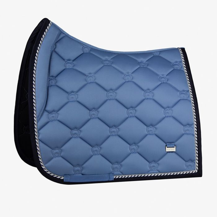 PSOS Monogram Dressage Saddle Pad - Light Blue - Full