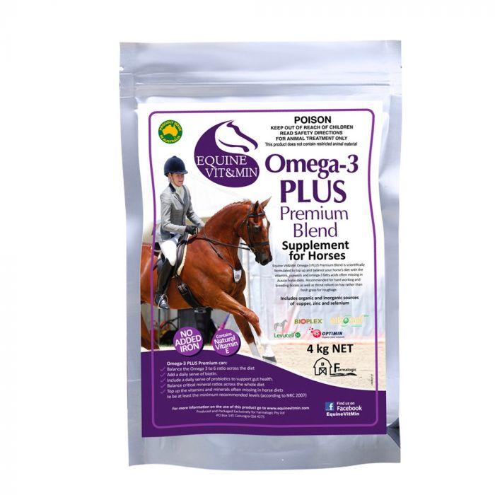 Equine Vit & Min - Omega-3 PLUS Premium 4kg