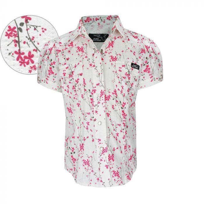 Pure Western Girls Myra Printed Shirt