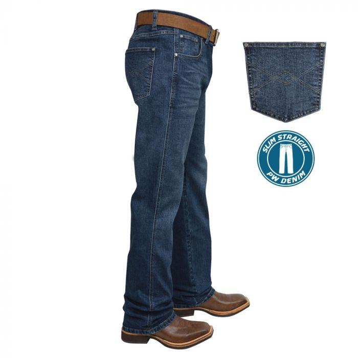 Pure Western Mens Heath Slim Straight Jean
