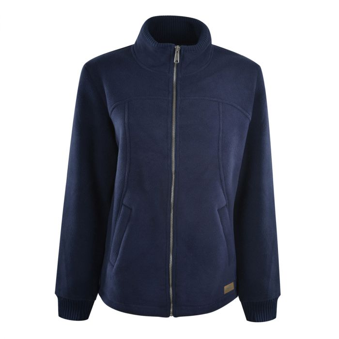 Dux Back Womens Pacific Bonded Fleece Zip Jacket - Navy
