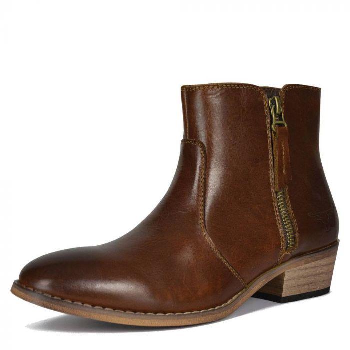 Madison Boot - Dark Tan