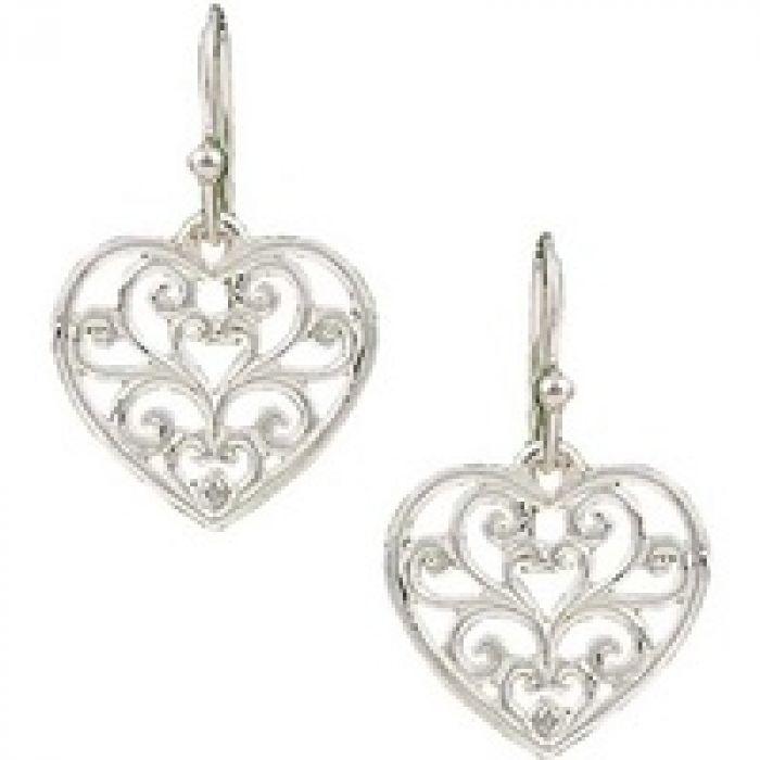 Montana Earrings - Open Filigree Heart