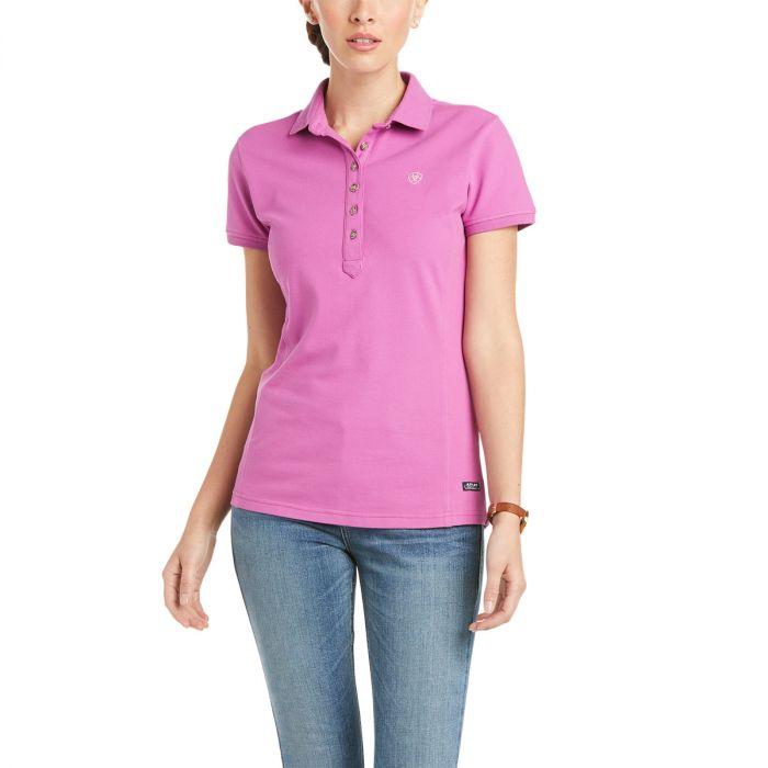 Ariat Ladies Prix Polo Shirt - Meadow Mauve