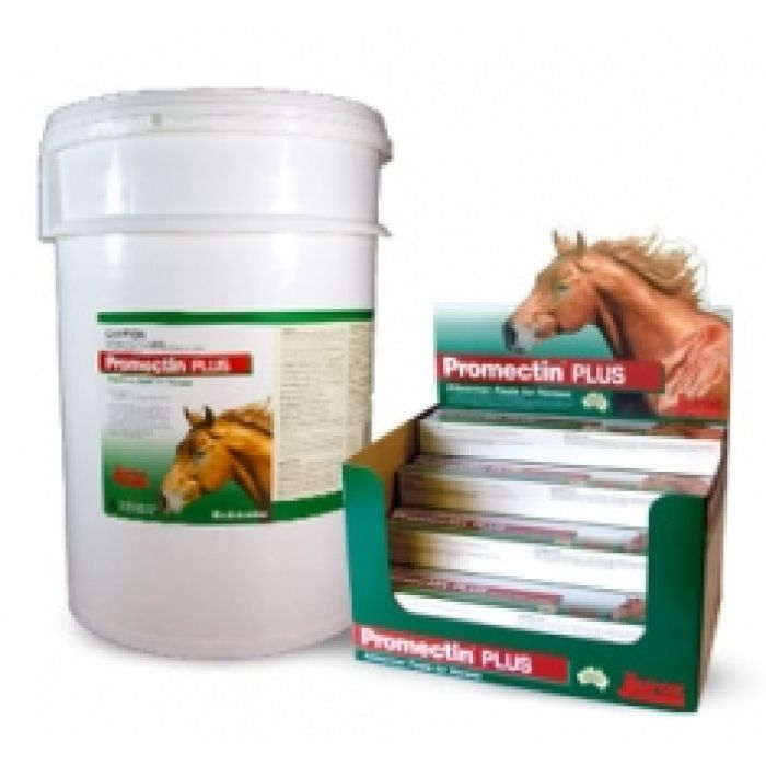 Promectin Plus Anthelmintic for the treatment of internal and external parasites of horses and for alleviation of mineral deficiencies.