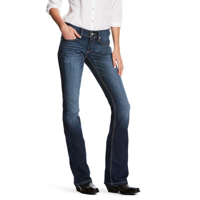 Ariat Womens R.E.A.L. Riding Jeans - Mid Rise - Boot Cut - Heartbeat Lita