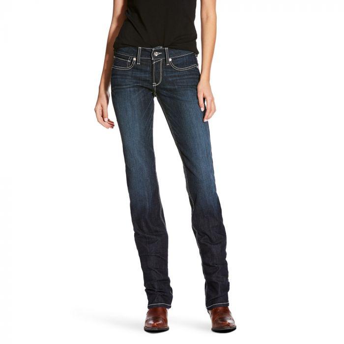 Ariat Womens R.E.A.L. Riding Jeans - Mid Rise - Straight Leg - Splash Supernova