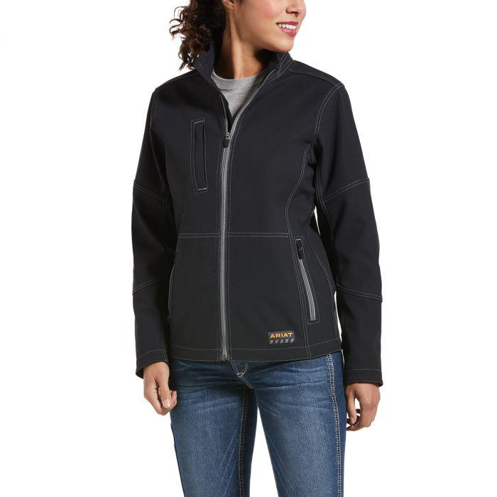 Ariat Womens REBAR Stretch Canvas Softshell Jacket