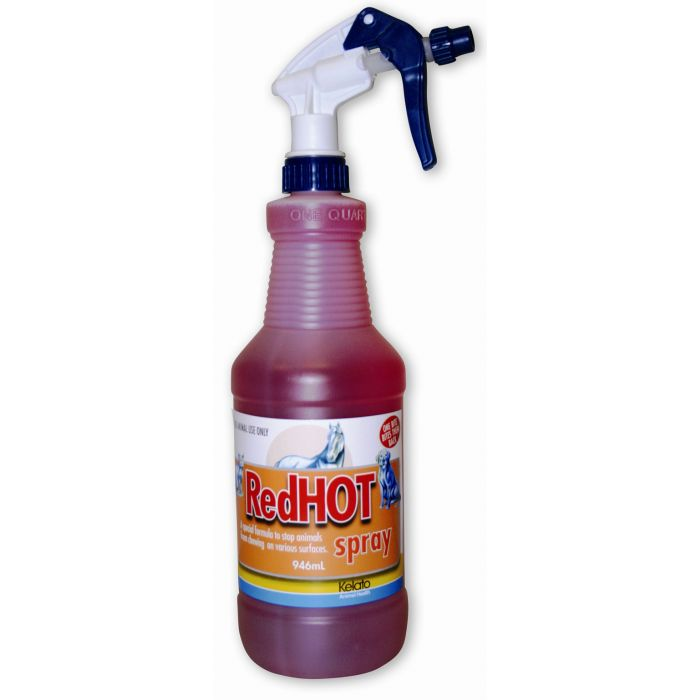 Kelato Red Hot Spray  -  the safe, non toxic way to stop them chewing thing they shouldn't!