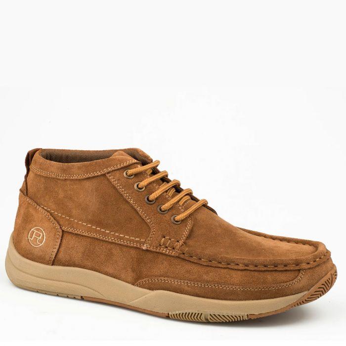 Roper Mens Clear Cut ll Tan Leather Casual Shoe