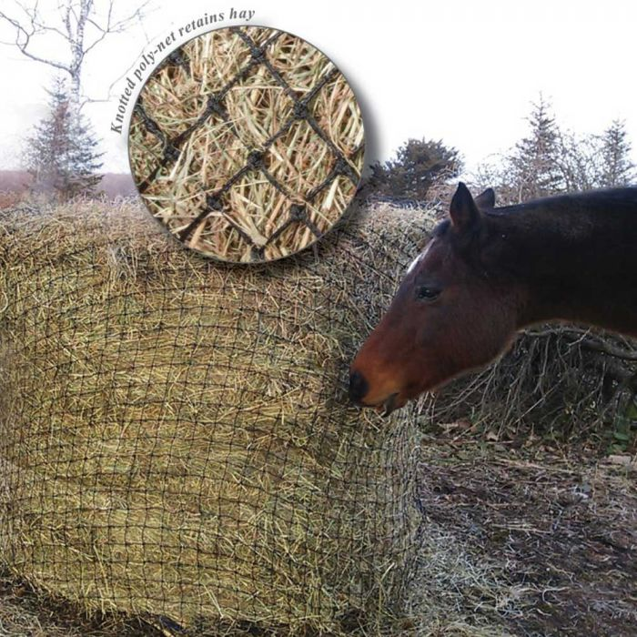 Showmaster Round Bale Poly Slow feed Hay Net 6' * 4'