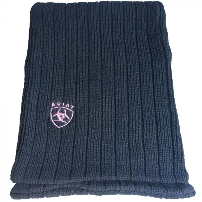 Ariat Winter Scarf - Charcoal/Pink