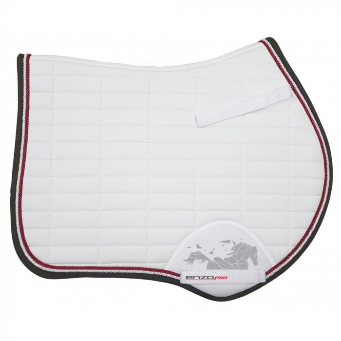Enzo Pro Euro Saddle Pad - WHITE