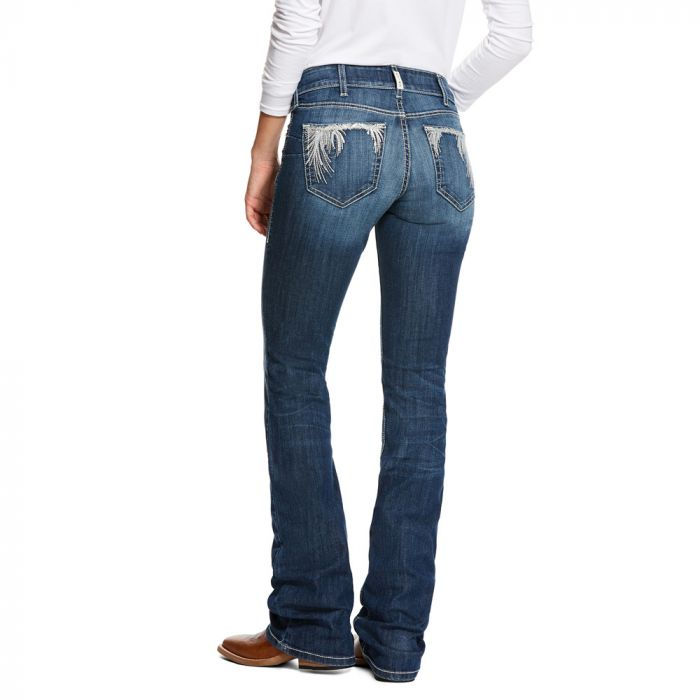 Ariat WNS R.E.A.L.Riding Jeans - Mid Rise - Boot Cut - Shimmer, Chile Blue