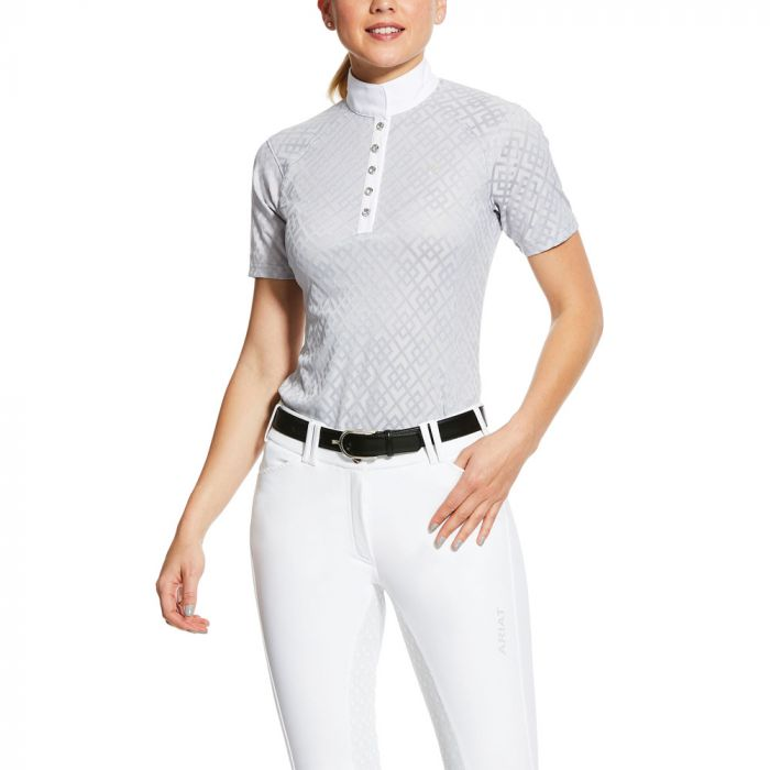 Ariat Showstopper Show Shirt - Pearl Grey