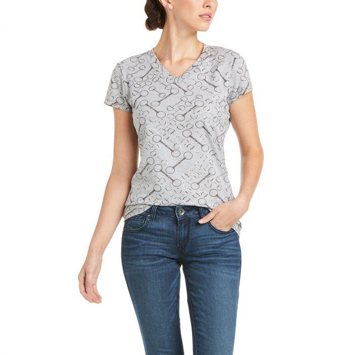 Ariat Snaffle T-Shirt - Heather Grey