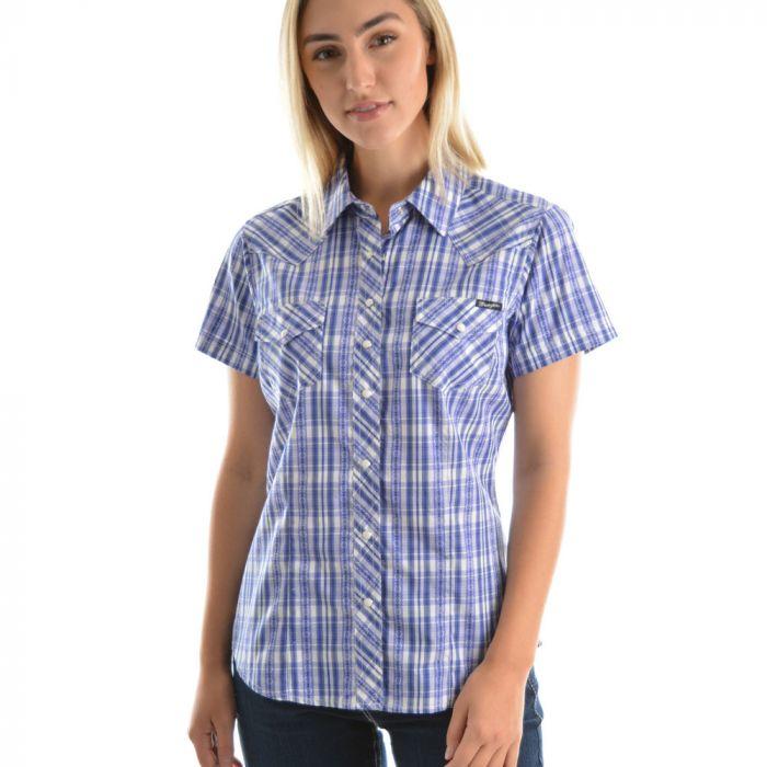Wrangler Womens Sophia Check S/S Shirt