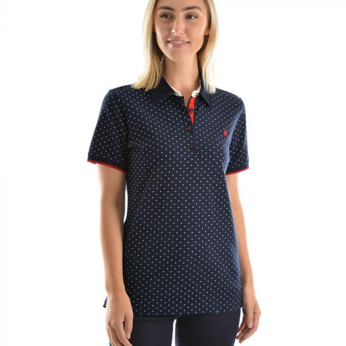Thomas Cook Womens Spot Short Sleeve Polo
