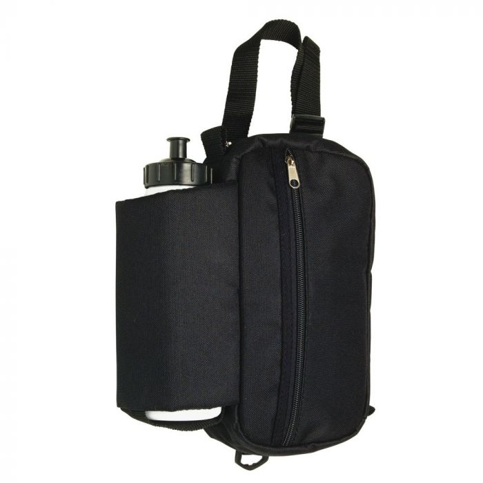 Saddle Bag - Insulated Water Bottle and Zipper Pouch Case