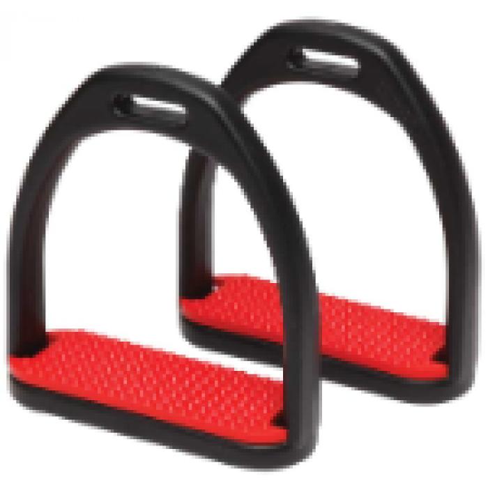 Composit Stirrups Adults - Black / Red