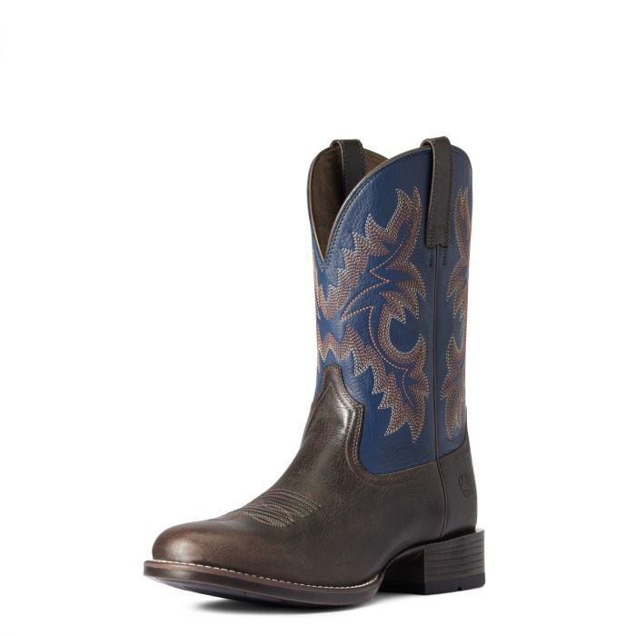 Ariat Mens Stockman Ultra - Wicker / Federal Blue