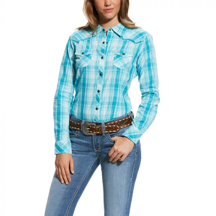 Ariat Womens R.E.A.L. Stunning Snap Shirt - Perfect Turquoise