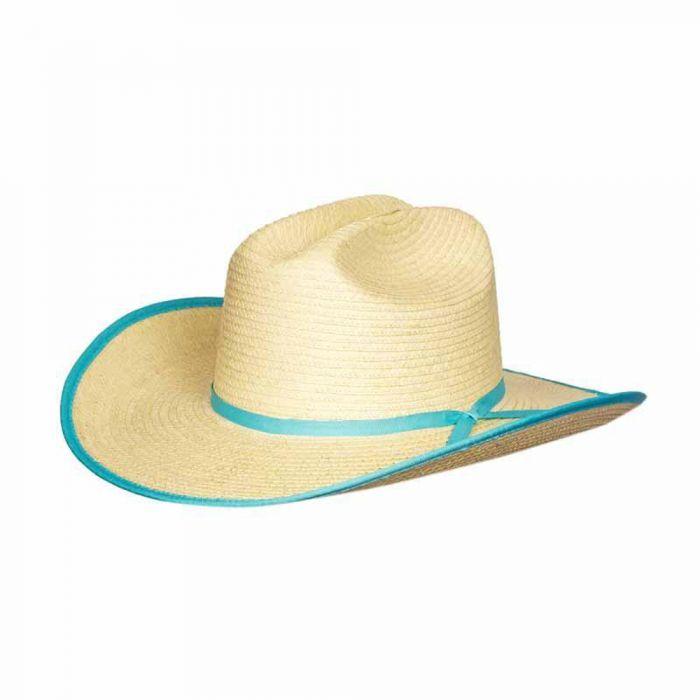 Sunbody Kids Cattleman Hat - Turquoise