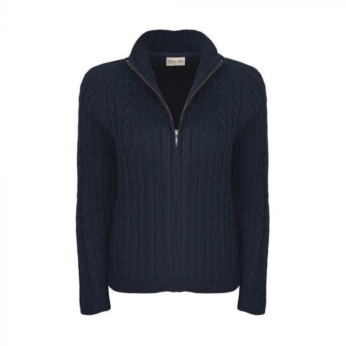 Thomas Cook Thru Cable Knit Cardigan - Navy