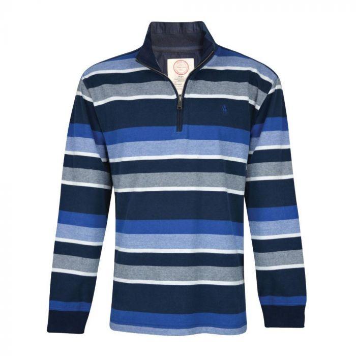 Thomas Cook Mens David 1/4 Zip Striped Rugby