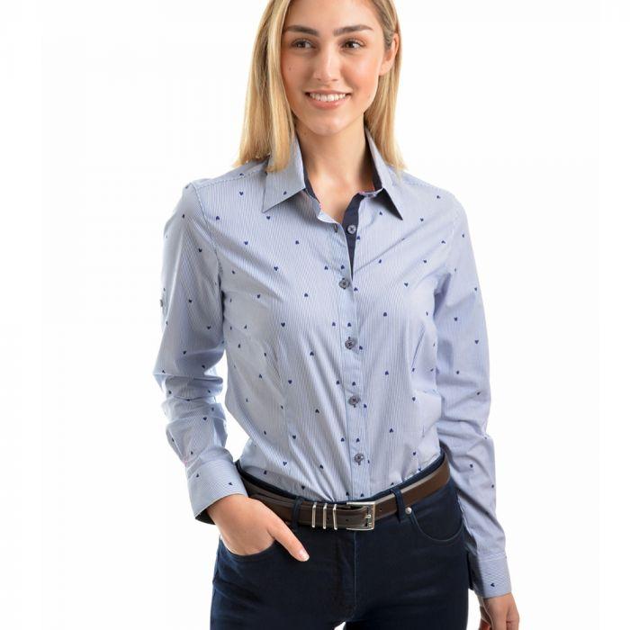 Thomas Cook Heart Stripe Long Sleeve Shirt