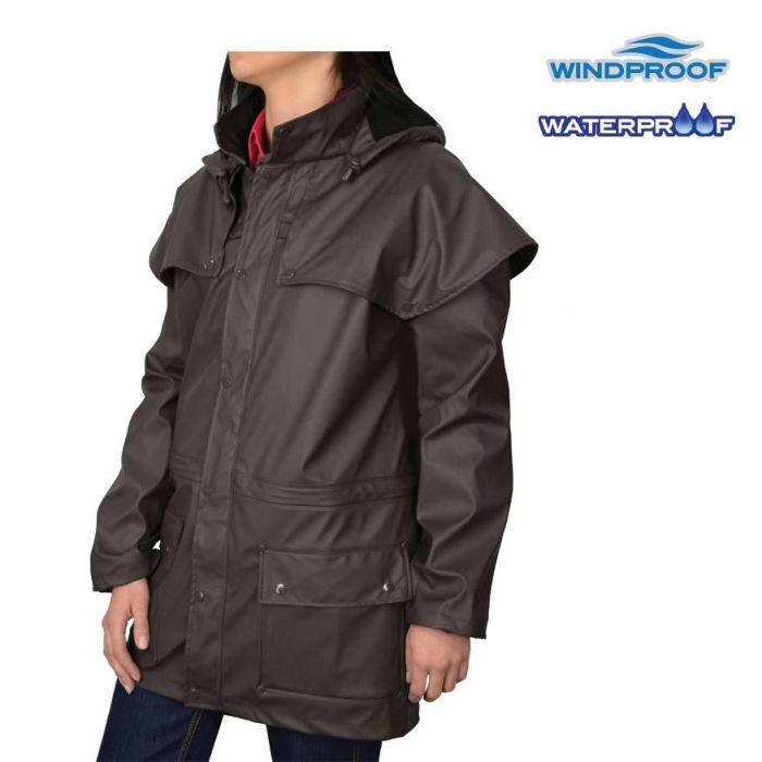 Thomas Cook Unisexed Pioneer Raincoat - Dark Brown