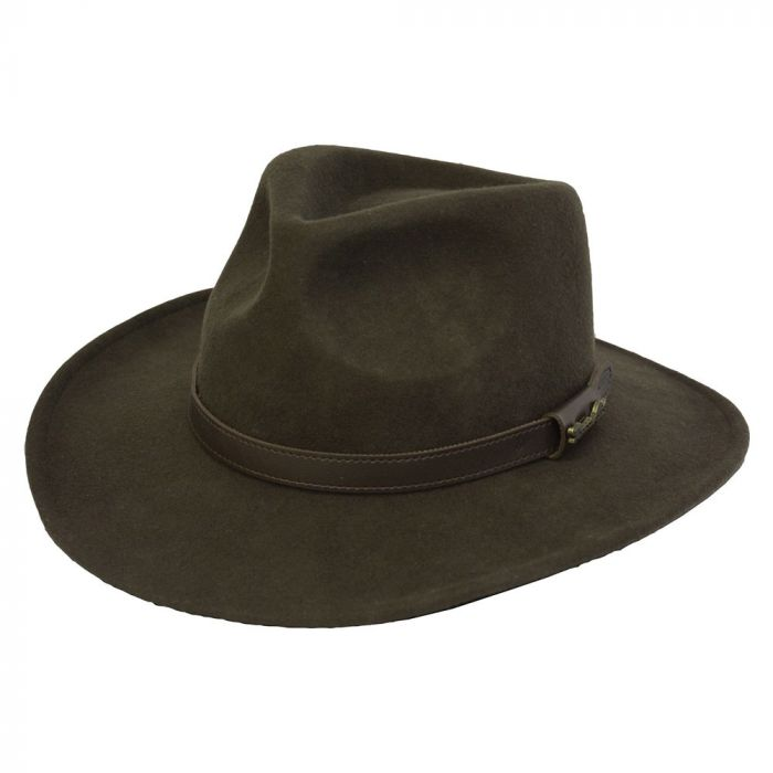 Thomas Cook Bendigo Crushable Hat - Dark Brown