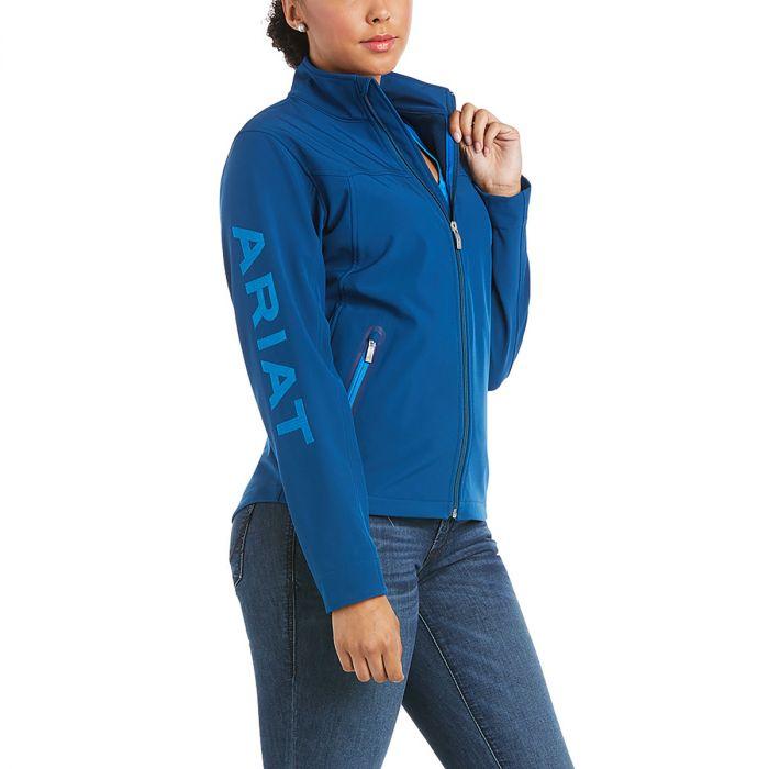 Ariat Womens New Team Softshell Jacket -  Blue Opal