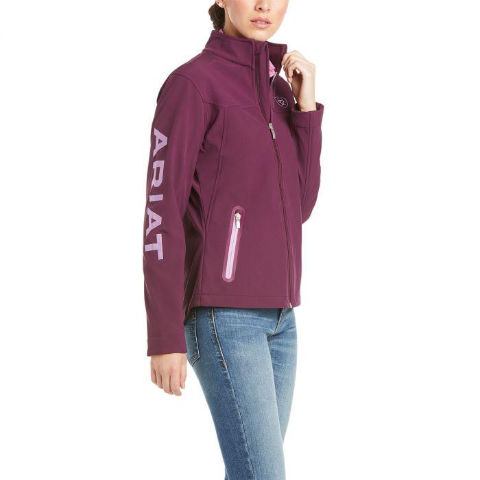 Ariat Womens New Team Softshell Jacket -  Italian Plum