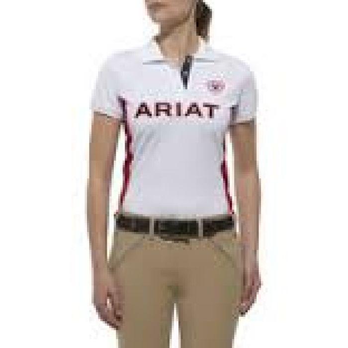 Ariat Team Polo Shirt -  White