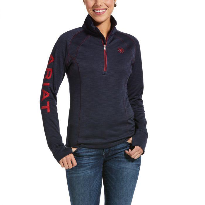 Ariat WMNS Tek Team 1/2 Zip Sweatshirt -  Navy Heather