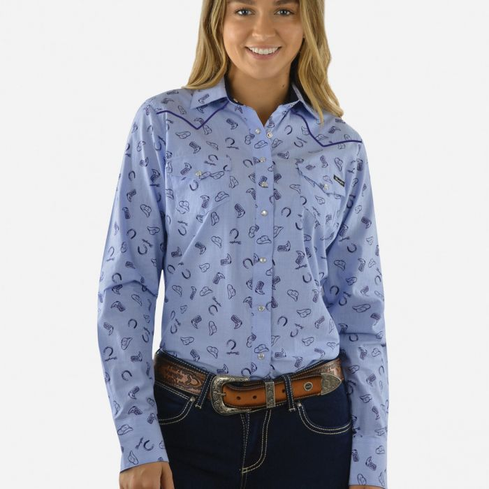 Wrangler Womens Trinity Print L/S Shirt