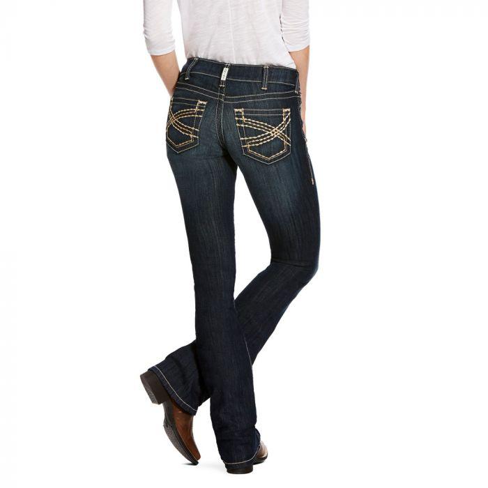 Ariat Womens R.E.A.L. Riding Jeans - Low Rise - Boot Cut - Vine Celestial