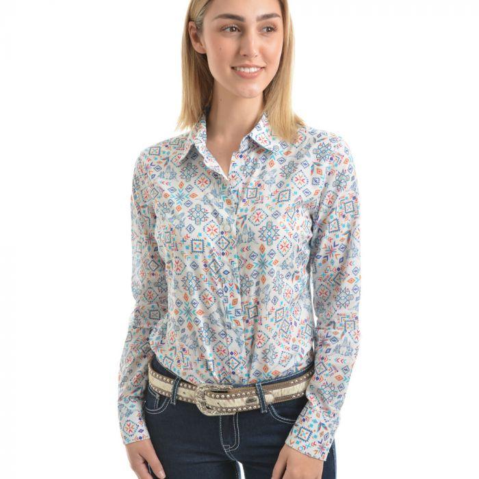 Pure Western Womens Violeta Print Long Sleeve Shirt