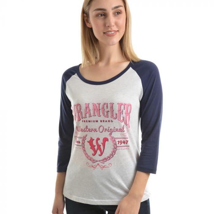 Wrangler Women's Amelia 3/4 Sleeve Top