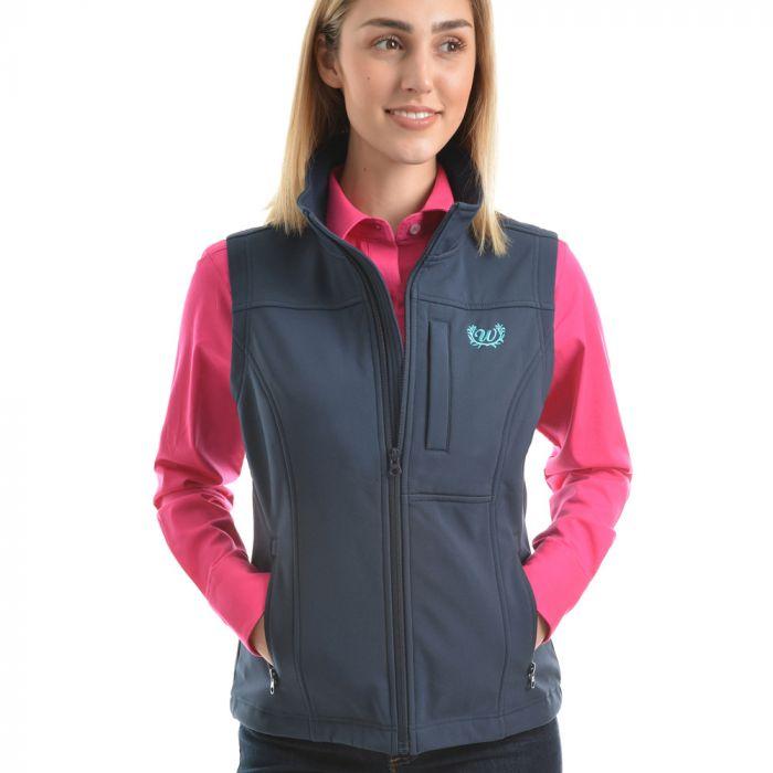 Wrangler Womens Logo Soft Shell Vest