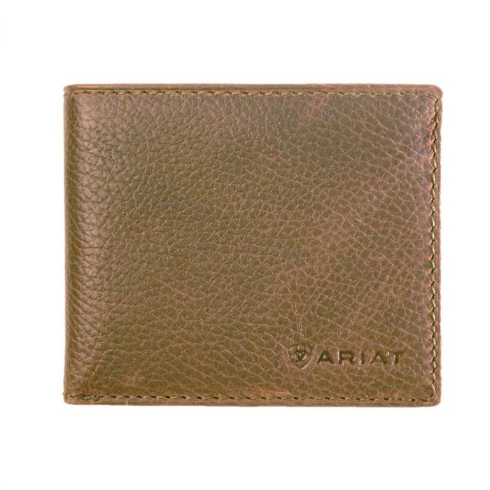 Ariat Men's Bifold  Wallet - Distressed Brown