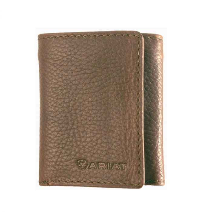 Ariat Men's Tri-Fold Wallet - Distressed Brown