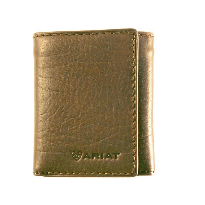 Ariat Men's Tri-Fold Wallet - Dark Brown