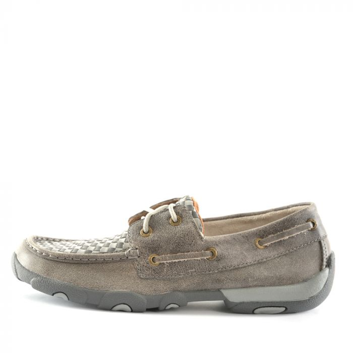 Twisted X Ladies Casual Driving Moc - Woven Grey/Grey