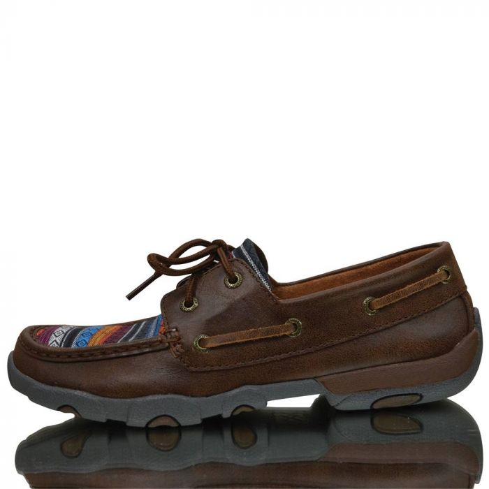 Twisted X Ladies Casual Driving Moc - Brown / Serape