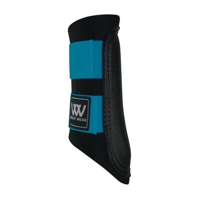 Woof Wear Club Brushing Boot - Black/Turquoise