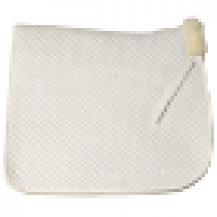 Wool Lined Dressage Saddlecloth - White